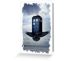 Police Call Box Flying with the Bird iPhone 6 Case Greeting Card
