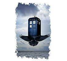Police Call Box Flying with the Bird iPhone 6 Case Photographic Print