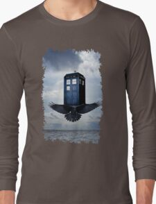 Police Call Box Flying with the Bird iPhone 6 Case Long Sleeve T-Shirt