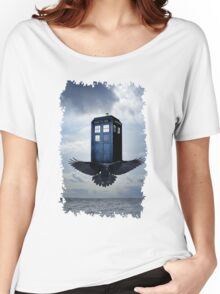 Police Call Box Flying with the Bird iPhone 6 Case Women's Relaxed Fit T-Shirt