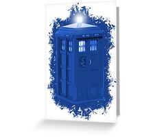 blue Box iPhone 6 plus case Greeting Card