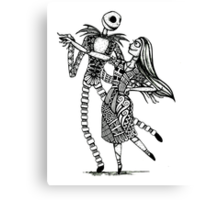 Jack and Sally, The Love Story Canvas Print