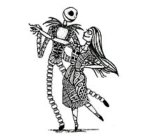 Jack and Sally, The Love Story Photographic Print