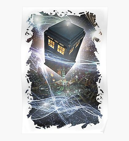 time lord blue box iPhone 6 plus cases Poster