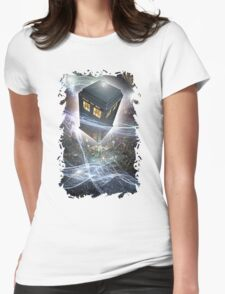 time lord blue box iPhone 6 plus cases Womens Fitted T-Shirt