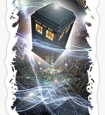 time lord blue box iPhone 6 plus cases Sticker