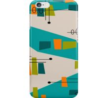 Mid-Century Modern Abstract Space Age iPhone Case/Skin