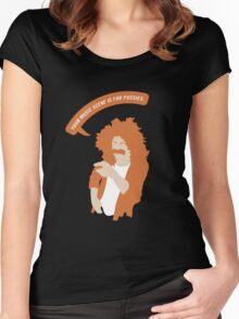 Your Music Scene is For Pussies! Women's Fitted Scoop T-Shirt