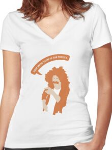 Your Music Scene is For Pussies! Women's Fitted V-Neck T-Shirt
