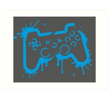 Playstation Controller (Splatter) Art Print
