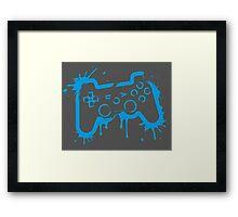 Playstation Controller (Splatter) Framed Print