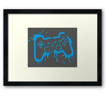 Playstation Controller (Splatter) Framed Print