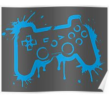 Playstation 3 Controller (Splatter) Poster