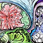 abstract flowers and doodles by Danielle J. Scott (Smith)