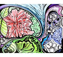 abstract flowers and doodles Photographic Print