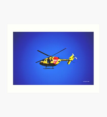 SURF RESCUE HELICOPTER Art Print
