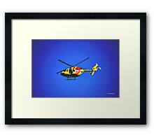 SURF RESCUE HELICOPTER Framed Print