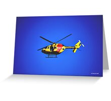 SURF RESCUE HELICOPTER Greeting Card