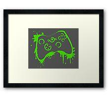 Xbox Controller (Splatter) Framed Print