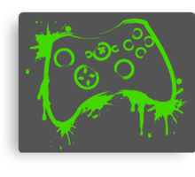 Xbox Controller (Splatter) Canvas Print