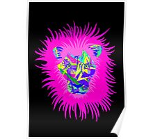 Colorful Abstract Lion  Poster