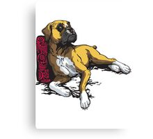 lying boxer Canvas Print