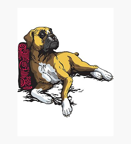 lying boxer Photographic Print