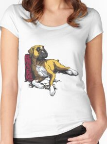 lying boxer Women's Fitted Scoop T-Shirt