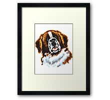 saint bernard head Framed Print