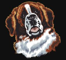saint bernard head by tamaya111