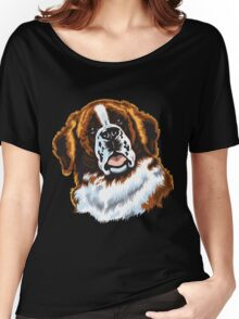 saint bernard head Women's Relaxed Fit T-Shirt