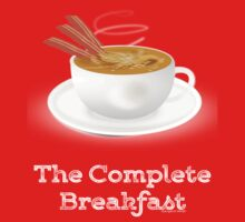 Bacon and Coffee: the Complete Breakfast (dark) Kids Tee