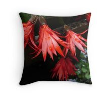 More Red Flowers Throw Pillow
