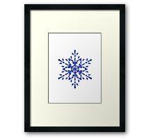 Frozen Snowflake Framed Print