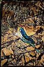 "Ying Bird - Woodcut by Belinda ""BillyLee"" NYE (Printmaker)"