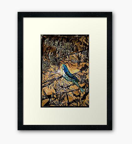 Ying Bird - Woodcut Framed Print