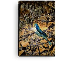 Ying Bird - Woodcut Canvas Print