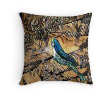 Ying Bird - Woodcut Throw Pillow
