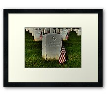 Unknown US Soldier Framed Print