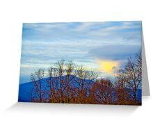 The Blue Ridge Mountains Of Virginia Greeting Card
