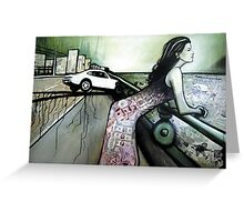 Little Fast car Greeting Card