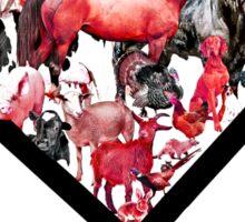 Animal Heart (My Vegan Heart) Clothing Sticker
