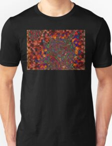 Multi Color Sun and Earth Abstract Drawing Design T-Shirt