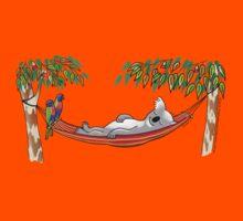 Hammock Sleeping Koala - Sweet Dreams by JumpingKangaroo