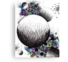 Space Abstract Drawing  Canvas Print