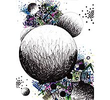 Space Abstract Drawing  Photographic Print