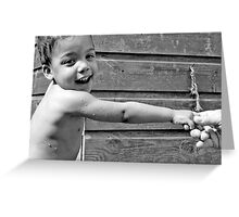 The Little Hand Greeting Card