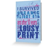 I survived Flight 815 Greeting Card