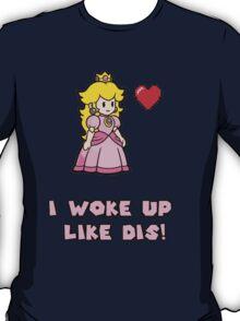 Princess Peach work up like DIS T-Shirt