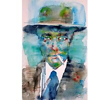 ROBERT OPPENHEIMER - watercolor portrait Photographic Print